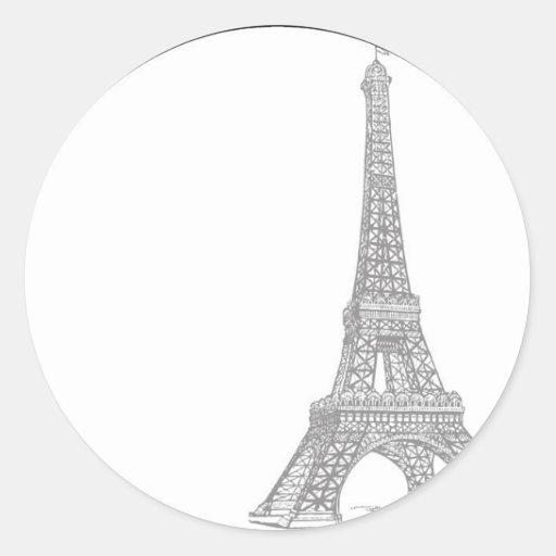20 Wedding in Paris Envelope Seal Sticker