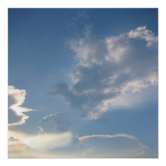 """20""""x20"""" Clouds Poster Print"""
