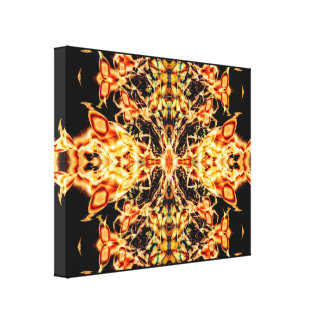 "20"" x 16"", 1.5"", Fireflower Abstract Stretched Canvas Prints"