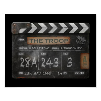 "20"" x 16"", Troop Film Vintage Clapperboard Poster"