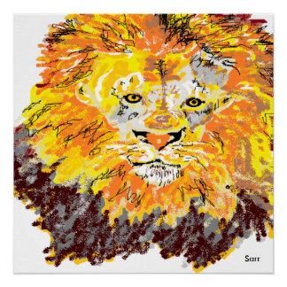 "20"" x 20"", Poster Paper (Semi-Gloss) Lion"