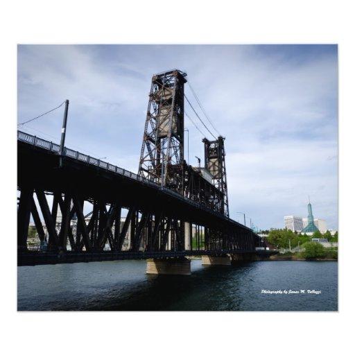 20 x 24 Steel Bridge. Portland Oregon Photo Art