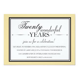 20 Year Anniversary Party Invitation