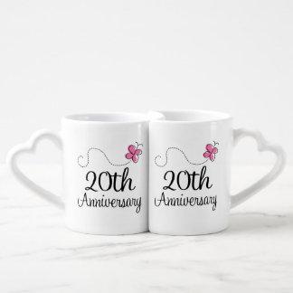20th Anniversary Couples Mugs Lovers Mug Set