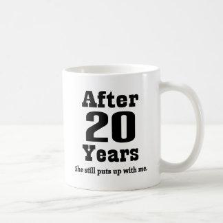 20th Anniversary (Funny) Basic White Mug