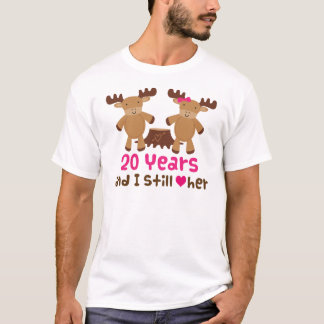 20th Anniversary Gift For Him T-Shirt