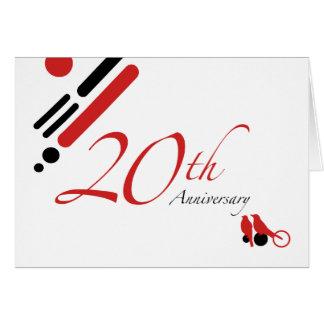 20th Anniversary (mod birds) Card