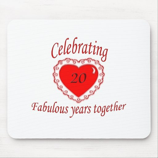 20th. Anniversary Mouse Pad