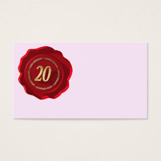 20th anniversary red wax seal