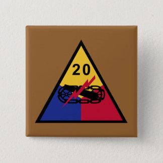 20th Armored Division 15 Cm Square Badge