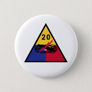 20th Armored Division 6 Cm Round Badge