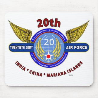 20TH ARMY AIR FORCE ARMY AIR CORPS WW II MOUSEPADS