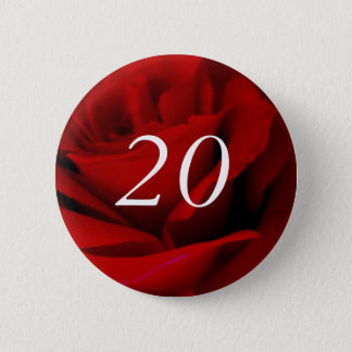20th Birthday 6 Cm Round Badge
