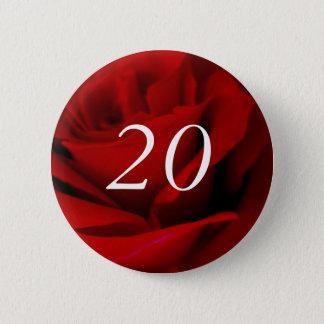 20th Birthday 6 Cm Round Badge