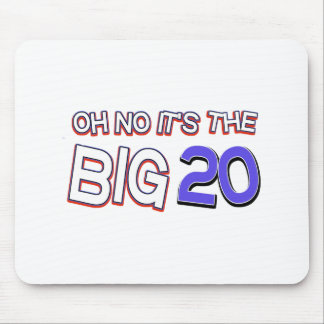 20th birthday designs mouse pad