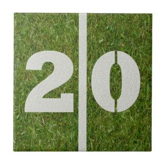 20th Birthday Football Customizable Tile