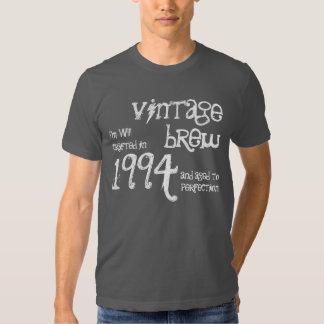 20th Birthday Gift 1994 Vintage Brew Charcoal 11 Tshirt