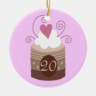 20th Birthday Gift Ideas For Her Ceramic Ornament