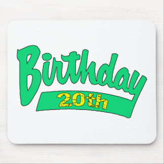 20th Birthday Gifts Mousepads