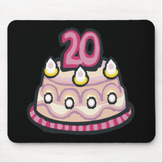 20th Birthday Mouse Pad
