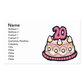 20th Birthday Pack Of Standard Business Cards
