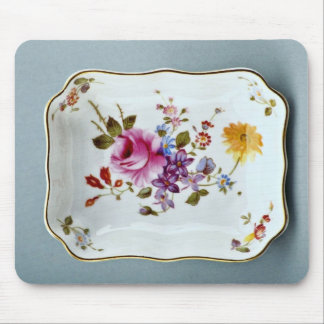 20th century ashtray, Derby, England  flowers Mousepad