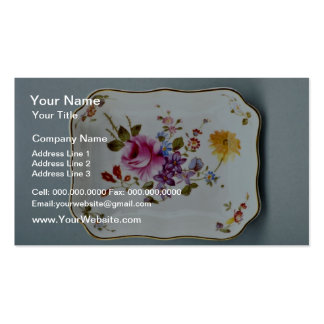 20th century ashtray, Derby, England  flowers Pack Of Standard Business Cards