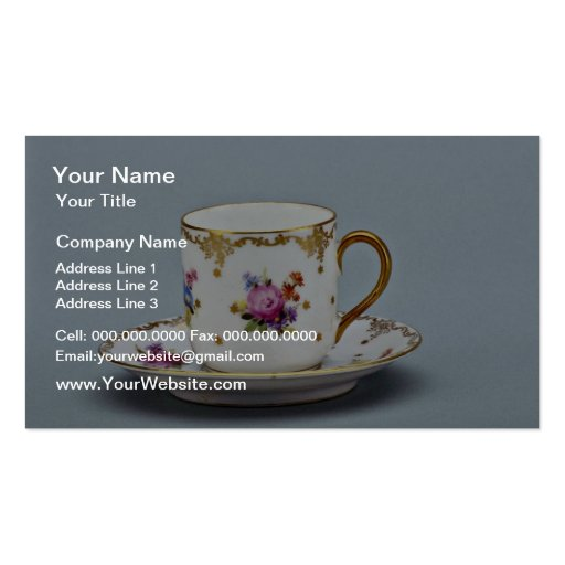 20th century coffee cup and saucer, Bavaria, Germa Business Card