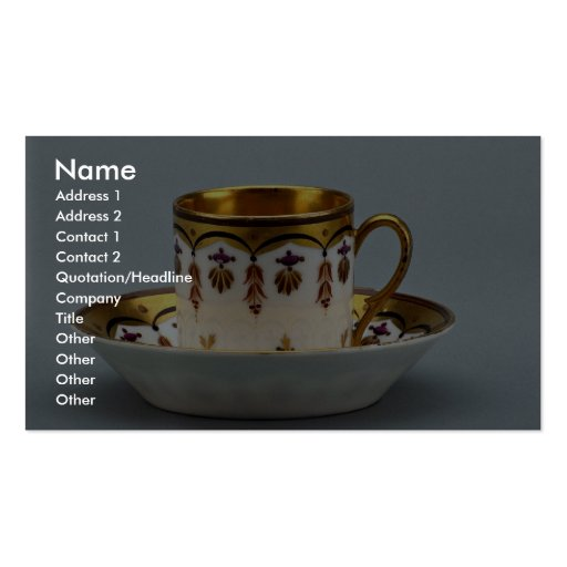 20th century coffee cup and saucer, Germany Business Card Templates