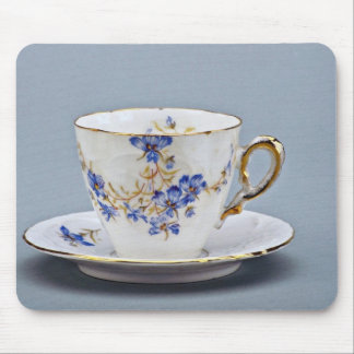 20th century coffee cup and saucer, Germany  flowe Mouse Pad