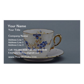 20th century coffee cup and saucer, Germany  flowe Pack Of Standard Business Cards