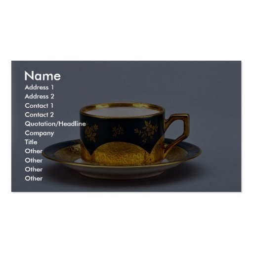 20th century coffee cup and saucer, Jaworzyna Sl., Business Card Templates