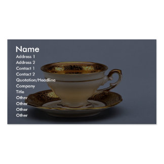 20th century coffee cup and saucer, Jaworzyna Sl., Pack Of Standard Business Cards