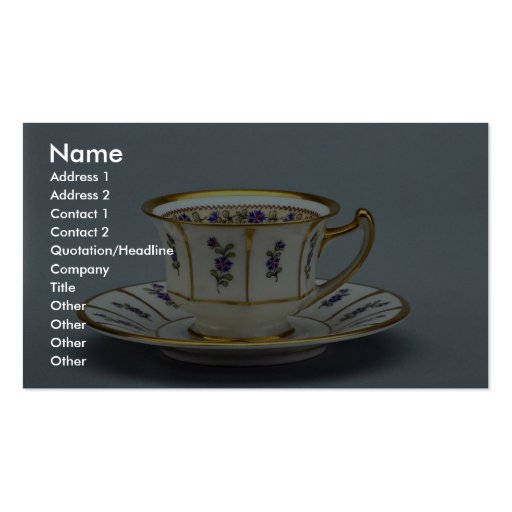 20th century coffee cup and saucer, Rosenthal, Ger Business Cards