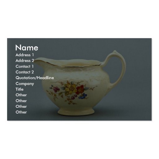 20th century creamer, Canada Business Cards
