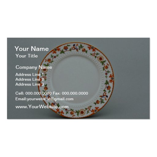 20th century dessert plate, Bavaria, Germany  flow Business Cards
