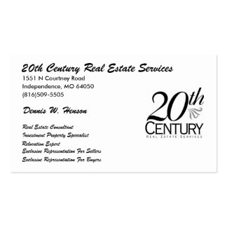 20th century logo (4), 20th Century Real Estate... Business Card Templates