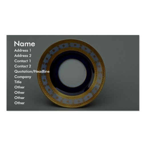 20th century saucer plate with inspiring design business card template