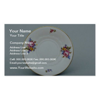 20th century saucer, Rosenthal, Germany  flowers Pack Of Standard Business Cards
