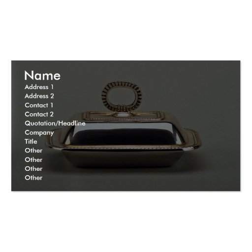 20th century silver butter dish, Argentina Business Card Template