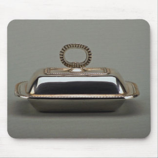 20th century silver butter dish, Argentina Mouse Pad
