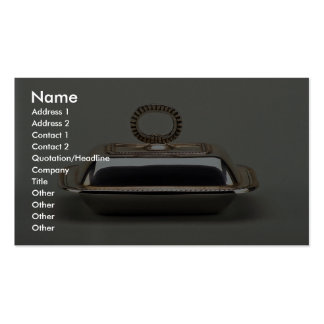 20th century silver butter dish, Argentina Pack Of Standard Business Cards