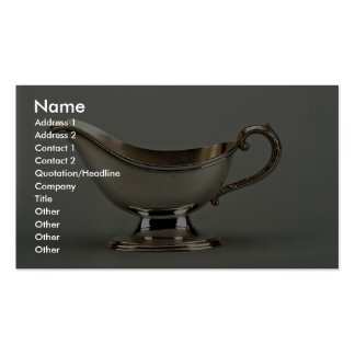 20th century silver plated sauce boat, Canada Pack Of Standard Business Cards