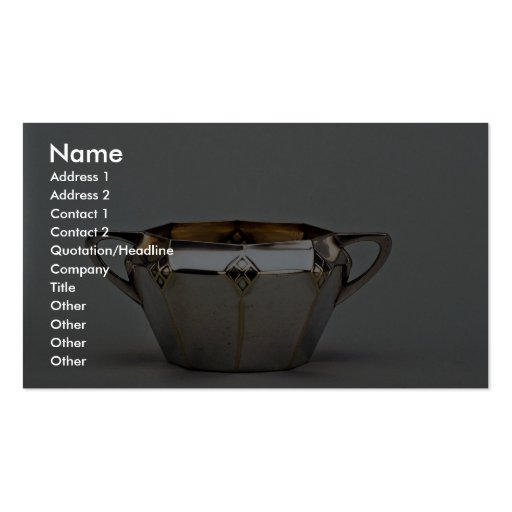 20th century silver plated sugar bowl, Canada Business Card Template