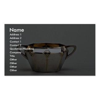 20th century silver plated sugar bowl, Canada Pack Of Standard Business Cards