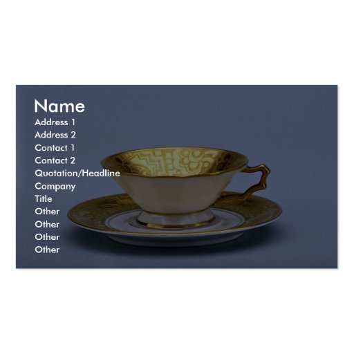 20th century tea cup and saucer, Bavaria, Germany Business Card Templates