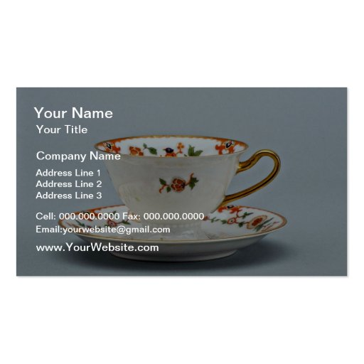 20th century tea cup and saucer, Bavaria, Germany Business Cards