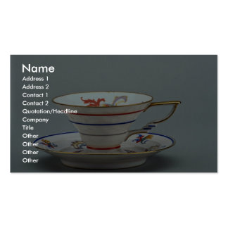 20th century tea cup and saucer, Germany Pack Of Standard Business Cards