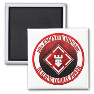 20th Engineer Brigade 003 Square Magnet