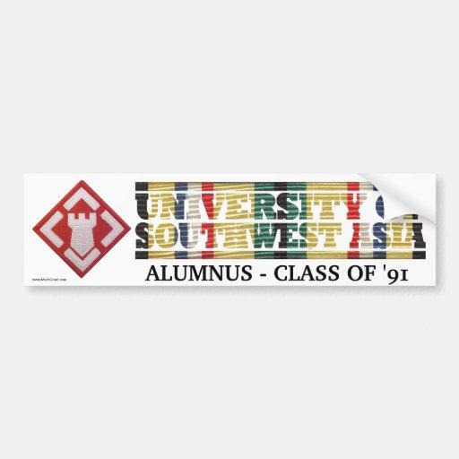 20th Engineer Brigade U of Southwest Asia Sticker Bumper Sticker